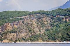 Adriatische Seeküste Stockfoto