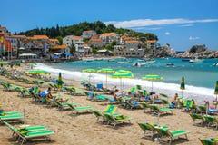 Adriatische Seeküste in Budva Riviera Milocer, Montenegro Stockbilder
