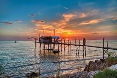 Adriatische Seeküste in Chieti, Abruzzo, Italien Lizenzfreie Stockfotografie