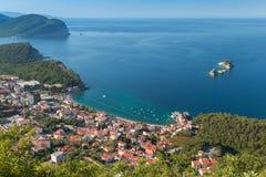 Adriatische Seeküste. Petrovac, Montenegro Stockfotos