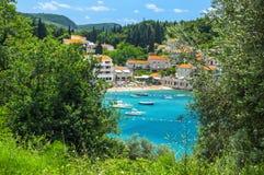 Adriatische Seeküste, Przno-Strand, Milocer, Montenegro Lizenzfreie Stockbilder