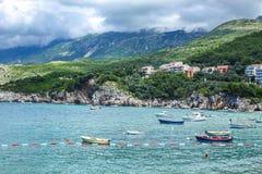 Adriatische Seeküste, Przno-Strand, Milocer, Montenegro Stockfoto