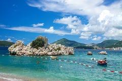 Adriatische Seeküste, Przno-Strand, Milocer, Montenegro Stockfotografie