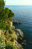 Adriatische Seeküsten-Landschaft Stockfotografie