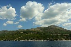 Adriatische Seeküsten-Landschaft Lizenzfreies Stockfoto