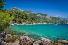 Adriatische Seeküstenansicht Lizenzfreies Stockfoto