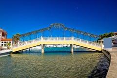 Adriatische Stadt der Rogoznica-Eisenbrücke Lizenzfreie Stockfotografie