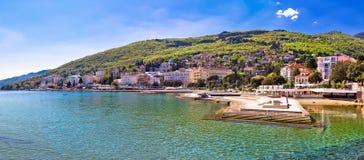 Adriatische Stadt des Opatija-Ufergegendpanoramablicks Lizenzfreie Stockfotos