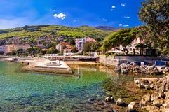 Adriatische Stadt des Opatija-Ufergegendpanoramablicks Lizenzfreies Stockbild