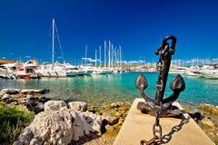 Adriatische Stadt des Rogoznica-Segelnhafens Lizenzfreie Stockfotos