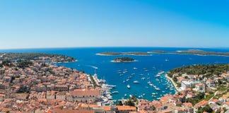 Adriatische Stadt Hvar Stockfotos