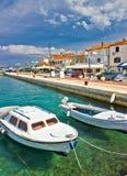 Adriatische Stadt von Biograd Na moru Ufergegend Lizenzfreie Stockfotografie
