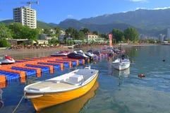 Adriatische Strandansicht Stockfotografie