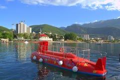 Adriatische Strandansicht Stockfotos