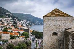 Adriatische zeehaven van Dubrovnik, Kroatië stock foto's