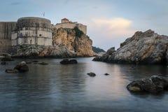 Adriatische zeehaven van Dubrovnik, Kroatië royalty-vrije stock afbeeldingen
