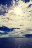 Adriatischer bewölkter Meerblick Lizenzfreies Stockbild
