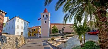 Adriatischer Dorfpanoramablick Diklo Stockfoto