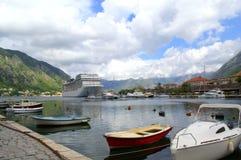 Adriatischer Hafen, Kotor Montenegro Stockbild