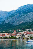 Adriatischer Kanal von Makarska, Kroatien Stockfotografie