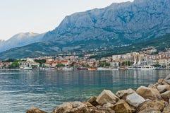 Adriatischer Kanal von Makarska, Kroatien Lizenzfreie Stockbilder