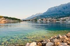 Adriatischer Kanal von Makarska, Kroatien Stockfotos