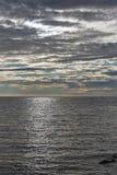 Adriatischer Meerblick bei Sonnenuntergang in Istria, Kroatien Stockfotografie