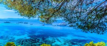 Adriatischer Meerblick in Kroatien, Insel Brac Stockbild