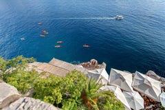 Adriatischer meeres- Strand in der alten Stadt von Dubrovnik Dalmatien, Kroatien Stockfoto