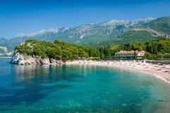 Adriatischer Meersandstrand Stockbild