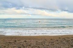Adriatischer Seehorizont Stockfotografie