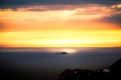 Adriatischer Sonnenuntergang Stockfoto