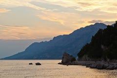 Adriatischer Sonnenuntergang Stockfotos
