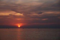 Adriatischer Sonnenuntergang Stockbild