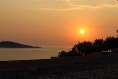 Adriatischer Sonnenuntergang Stockbilder