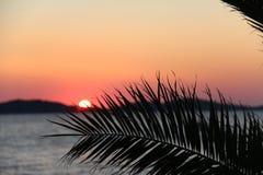 Adriatischer Sonnenuntergang Lizenzfreie Stockfotografie