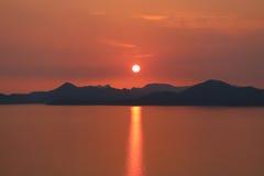 Adriatischer Sonnenuntergang Stockfotografie