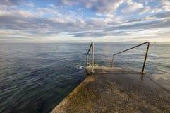Adriatischer Sonnenuntergang, adriatisches Meer, Slowenien Lizenzfreie Stockfotos