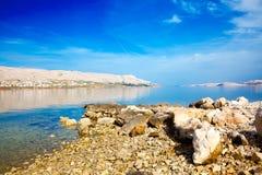 Adriatischer Strand Stockfoto