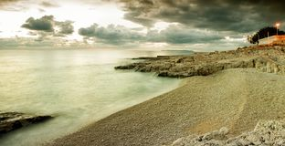 Adriatischer Winter Stockfotos