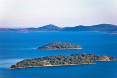 Adriatisches Archipel von Kroatien-Ansicht Lizenzfreies Stockfoto