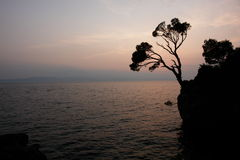 Adriatisches Costline Brela Stockfoto
