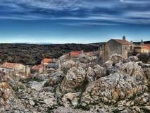 Adriatisches Dorf Stockfotografie