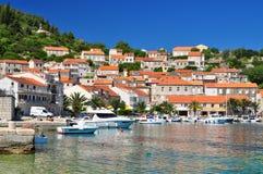 Adriatisches Dorf Racisce Stockbild