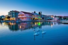 Adriatisches Dorf von Sukosan-Ufergegend Lizenzfreie Stockfotos