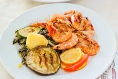 Adriatisches köstliches Mittagessen Stockfotos