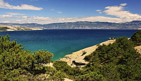 Adriatisches Meer, Baska Lizenzfreie Stockbilder