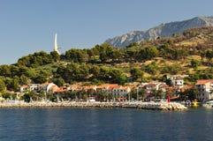 Adriatisches Meer bei Podgora Stockfotos