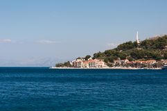 Adriatisches Meer bei Podgora Stockfoto