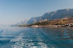 Adriatisches Meer bei Podgora Stockfotografie